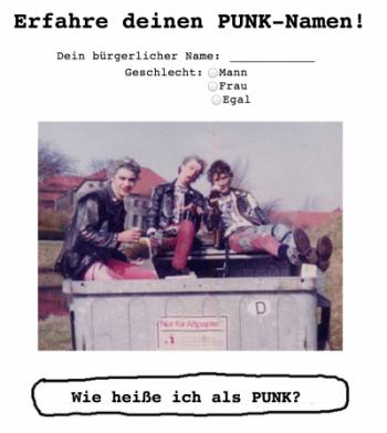 Screenshot www.punkname.de